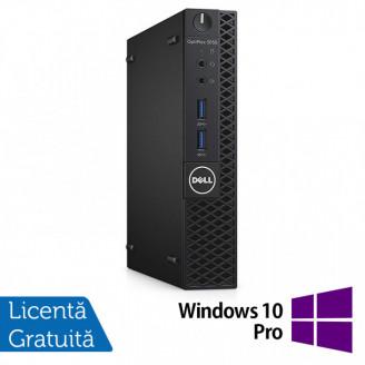Calculator DELL Optiplex 3060 MiniPC, Intel Core i3-8100T 3.10GHz, 4GB DDR3, 500GB SATA + Windows 10 Pro Calculatoare