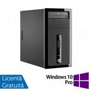 Calculator HP 400 G1 Tower, Intel Core i3-4130 3.40Ghz, 4GB DDR3, 500GB SATA, DVD-ROM + Windows 10 Pro Calculatoare