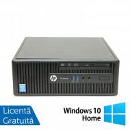 Calculator HP 400 G2.5 SFF, Intel Core i3-4170 3.70GHz, 4GB DDR3, 250GB SATA, DVD-RW + Windows 10 Home Calculatoare