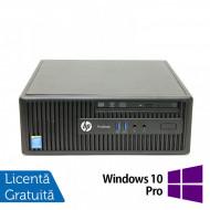 Calculator HP 400 G2.5 SFF, Intel Core i3-4170 3.70GHz, 4GB DDR3, 250GB SATA, DVD-RW + Windows 10 Pro Calculatoare