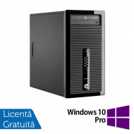 Calculator HP 400 G2 Tower, Intel Core i3-4130 3.40GHz, 4GB DDR3, 120GB SSD, DVD-RW + Windows 10 Pro Calculatoare