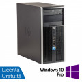 Calculator HP 6005 Pro Tower, AMD Athlon II X2 220 2.80GHz, 4GB DDR3, 500GB SATA, ATI Radeon 4550 ( + cablu DMS-59 -> 2xVGA ), DVD-RW + Windows 10 Pro