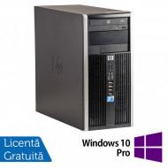 Calculator HP 6005 Pro Tower, AMD Athlon II X2 220 2.80GHz, 4GB DDR3, 500GB SATA, ATI Radeon 4550 ( + cablu DMS-59 -> 2xVGA ), DVD-RW + Windows 10 Pro Calculatoare
