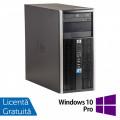 Calculator HP 6005 Pro Tower, AMD Athlon II X2 220 2.80GHz, 4GB DDR3, 500GB SATA, nVidia Pegatron GT310DP, DVD-RW + Windows 10 Pro