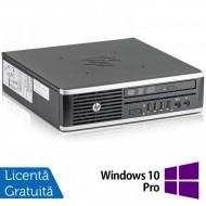 Calculator HP 8300 Elite USDT, Intel Core i3-3220 3.30GHz, 8GB DDR3, 120GB SSD, DVD-ROM + Windows 10 Pro Calculatoare