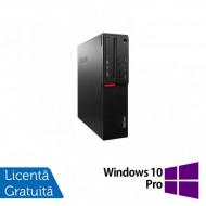 Calculator LENOVO M700 SFF, Intel Core i3-6100 3.70GHz, 4GB DDR4, 500GB SATA + Windows 10 Pro Calculatoare
