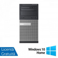 Calculator DELL Optiplex 9020 Tower, Intel Pentium G3220 3.00GHz, 4GB DDR3, 250GB SATA, DVD-ROM + Windows 10 Home Calculatoare