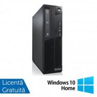 Calculator LENOVO ThinkCentre M82 SFF, Intel Pentium G2020 2.90GHz, 4GB DDR3, 250GB SATA, DVD-ROM + Windows 10 Home Calculatoare