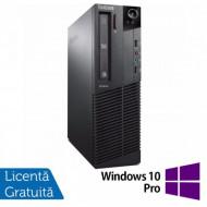 Calculator Lenovo Thinkcentre M83 SFF, Intel Pentium G3220 3.00GHz, 4GB DDR3, 250GB SATA, DVD-ROM + Windows 10 Pro Calculatoare