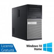 Calculator Dell OptiPlex 7010 Tower, Intel Core i3-3220 3.30GHz, 4GB DDR3, 500GB SATA, DVD-RW + Windows 10 Home Calculatoare