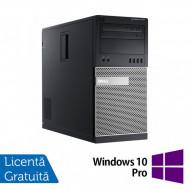 Calculator Dell OptiPlex 7010 Tower, Intel Core i3-3220 3.30GHz, 4GB DDR3, 500GB SATA, DVD-RW + Windows 10 Pro Calculatoare