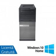 Calculator Dell OptiPlex 390 Tower, Intel Core i3-2100 3.10GHz, 4GB DDR3, 500GB SATA, DVD-RW + Windows 10 Home Calculatoare