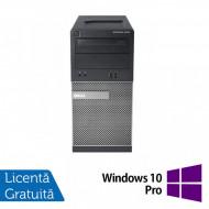 Calculator Dell OptiPlex 390 Tower, Intel Core i3-2100 3.10GHz, 4GB DDR3, 500GB SATA, DVD-RW + Windows 10 Pro Calculatoare