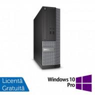 Calculator DELL Optiplex 3020 SFF, Intel Pentium G3250 3.20GHz, 4GB DDR3, 500GB SATA, DVD-RW + Windows 10 Pro Calculatoare