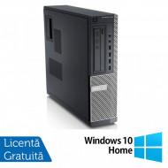 Calculator DELL GX790 Desktop, Intel Core i3-2100 3.10 GHz, 4GB DDR3, 500GB SATA, DVD-ROM + Windows 10 Home Calculatoare