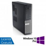 Calculator DELL GX790 Desktop, Intel Core i3-2100 3.10 GHz, 4GB DDR3, 500GB SATA, DVD-ROM + Windows 10 Pro Calculatoare