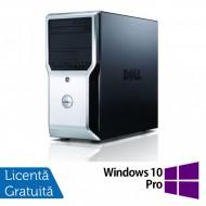 Workstation Dell Precision T1500, Intel Quad Core i7-870 2.93GHz - 3.60GHz, 8GB DDR3, 500GB HDD, AMD FirePro V3900 1GB, DVD-RW + Windows 10 Pro Calculatoare