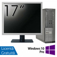 Calculator DELL Optiplex 3020 SFF, Intel Pentium G3220 3.00GHz, 4GB DDR3, 500GB SATA, DVD-RW + Monitor 17 Inch + Windows 10 Pro Calculatoare