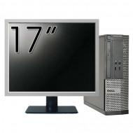 Calculator DELL Optiplex 3020 SFF, Intel Pentium G3220 3.00GHz, 4GB DDR3, 500GB SATA, DVD-RW + Monitor 17 Inch Calculatoare
