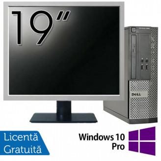 Calculator DELL 3020 SFF, Intel Core i3-4130 3.40GHz, 4GB DDR3, 500GB SATA, DVD-RW + Monitor 19 Inch + Windows 10 Pro