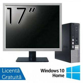 Calculator Dell OptiPlex 7010 USFF, Intel Core i5-3475S 2.90GHz, 4GB DDR3, 120GB SSD + Monitor 17 Inch + Windows 10 Home Calculatoare