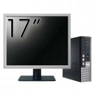 Calculator Dell OptiPlex 7010 USFF, Intel Core i5-3475S 2.90GHz, 4GB DDR3, 120GB SSD + Monitor 17 Inch Calculatoare