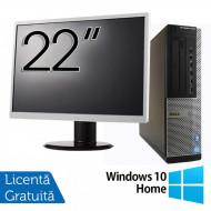 Pachet Calculator DELL OptiPlex 7010 Desktop, Intel Core i5-3550 3.30GHz, 4GB DDR3, 500GB SATA, DVD-RW + Monitor 22 Inch + Windows 10 Home Calculatoare