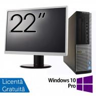 Pachet Calculator DELL OptiPlex 7010 Desktop, Intel Core i5-3550 3.30GHz, 4GB DDR3, 500GB SATA, DVD-RW + Monitor 22 Inch + Windows 10 Pro Calculatoare