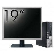 Calculator Dell OptiPlex 7010 USFF, Intel Core i5-3475S 2.90GHz, 4GB DDR3, 120GB SSD + Monitor 19 Inch Calculatoare