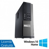 Calculator DELL 3020 SFF, Intel Core i3-4130 3.40 GHz, 4GB DDR3, 500GB SATA, DVD-RW + Windows 10 Home Calculatoare