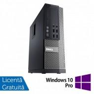 Calculator DELL 3020 SFF, Intel Core i3-4130 3.40 GHz, 4GB DDR3, 500GB SATA, DVD-RW + Windows 10 Pro Calculatoare