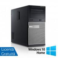 Calculator DELL Optiplex 390 Tower, Intel i3-2100 3.10GHz, 4GB DDR3, 250GB SATA, DVD-ROM + Windows 10 Home Calculatoare