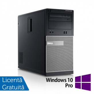 Calculator DELL Optiplex 390 Tower, Intel i3-2100 3.10GHz, 4GB DDR3, 250GB SATA, DVD-ROM + Windows 10 Pro Calculatoare