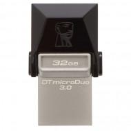 Memorie USB 3.0, microUSB 3.0 KINGSTON 32 GB, Profil mic,  OTG, Argintiu & negru, Carcasa metal & plastic Componente & Accesorii