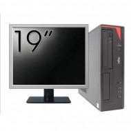 Pachet Calculator Fujitsu E420 Desktop, Intel Core i5-4460 3.20GHz, 4GB DDR3, 500GB SATA, DVD-RW + Monitor 19 Inch Calculatoare