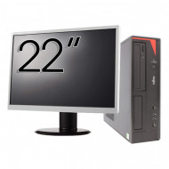 Pachet Calculator Fujitsu E420 Desktop, Intel Core i5-4460 3.20GHz, 4GB DDR3, 500GB SATA, DVD-RW + Monitor 22 Inch Calculatoare
