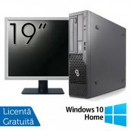 Pachet Calculator Fujitsu Esprimo E500 Desktop, Intel Core i7-2600 3.40GHz, 4GB DDR3, 320GB SATA, DVD-ROM + Monitor 19 Inch + Windows 10 Home Calculatoare