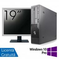 Pachet Calculator Fujitsu Esprimo E500 Desktop, Intel Core i7-2600 3.40GHz, 4GB DDR3, 320GB SATA, DVD-ROM + Monitor 19 Inch + Windows 10 Pro Calculatoare
