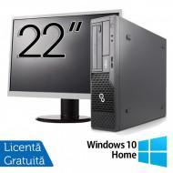 Pachet Calculator Fujitsu Esprimo E500 Desktop, Intel Core i7-2600 3.40GHz, 4GB DDR3, 320GB SATA, DVD-ROM + Monitor 22 Inch + Windows 10 Home Calculatoare