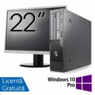 Pachet Calculator Fujitsu Esprimo E500 Desktop, Intel Core i7-2600 3.40GHz, 4GB DDR3, 320GB SATA, DVD-ROM + Monitor 22 Inch + Windows 10 Pro Calculatoare