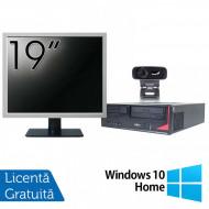 Pachet Calculator Fujitsu E410, Intel Core i3-3220 3.30GHz, 4GB DDR3, 500GB SATA + Monitor 19 Inch + Webcam + Tastatura si Mouse + Windows 10 Home Calculatoare