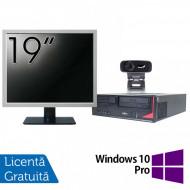 Pachet Calculator Fujitsu E410, Intel Core i3-3220 3.30GHz, 4GB DDR3, 500GB SATA + Monitor 19 Inch + Webcam + Tastatura si Mouse + Windows 10 Pro Calculatoare