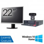 Pachet Calculator Fujitsu E410, Intel Core i3-3220 3.30GHz, 4GB DDR3, 500GB SATA + Monitor 22Inch + Webcam + Tastatura si Mouse + Windows 10 Home Calculatoare