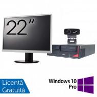 Pachet Calculator Fujitsu E410, Intel Core i3-3220 3.30GHz, 4GB DDR3, 500GB SATA + Monitor 22Inch + Webcam + Tastatura si Mouse + Windows 10 Pro Calculatoare
