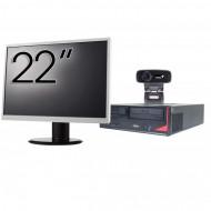 Pachet Calculator Fujitsu E410, Intel Core i3-3220 3.30GHz, 4GB DDR3, 500GB SATA + Monitor 22Inch + Webcam + Tastatura si Mouse Calculatoare