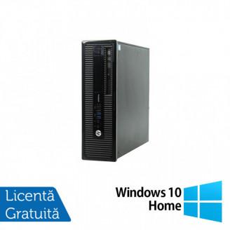 Calculator HP 400 G1 SFF, Intel Core i3-4130 3.40GHz, 4GB DDR3, 500GB SATA, DVD-RW + Windows 10 Home Calculatoare