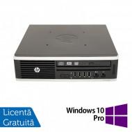 Calculator HP 8200 Elite, Intel Core i3-2100 3.10GHz, 4GB DDR3, 320GB SATA + Windows 10 Pro Calculatoare