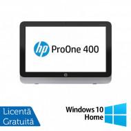 All In One HP Pro One 400 G1, 19.5 Inch 1600 x 900, Intel Core i3-4130T 2.90GHz, 4GB DDR3, 120GB SSD, DVD-RW + Windows 10 Home Calculatoare