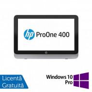 All In One HP Pro One 400 G1, 19.5 Inch 1600 x 900, Intel Core i3-4130T 2.90GHz, 4GB DDR3, 120GB SSD, DVD-RW + Windows 10 Pro Calculatoare