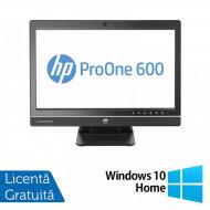 All In One HP ProOne 600 G1, 21.5 Inch Full HD, Intel Core i3-4160 3.60GHz, 4GB DDR3, 500GB SATA, DVD-RW, Webcam + Windows 10 Home Calculatoare